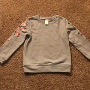 Little girls adorable floral sweater